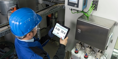 Minimize manual maintenance work with automated pH and ORP measuring points.